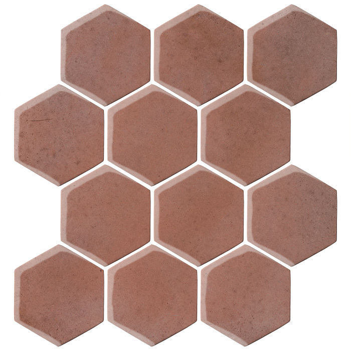 4x4 Oleson Hexagon Plum 5115c