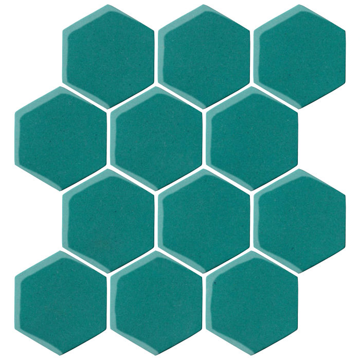 4x4 Oleson Hexagon Real Teal 5483c