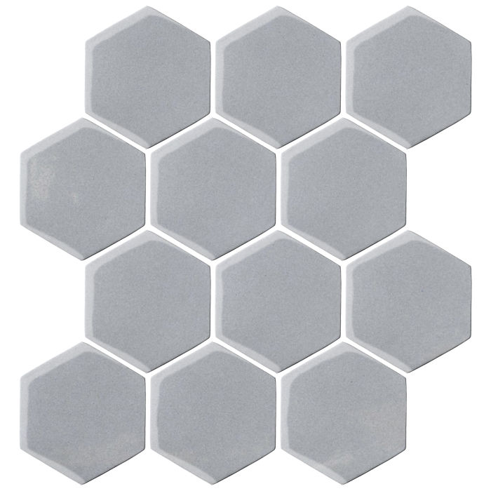 4x4 Oleson Hexagon Silver Shadow