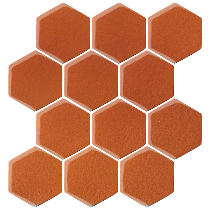 4x4 Oleson Hexagon Spanish Brown