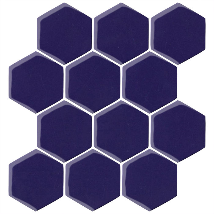 4x4 Oleson Hexagon Ultramarine 2758c