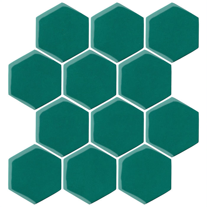 4x4 Oleson Hexagon Viridian 7721c