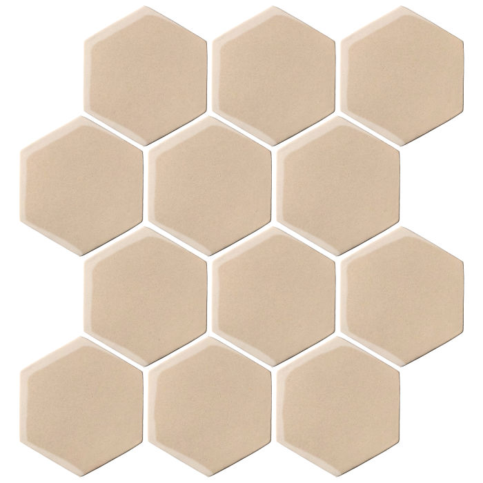 4x4 Oleson Hexagon White Bread 7506c