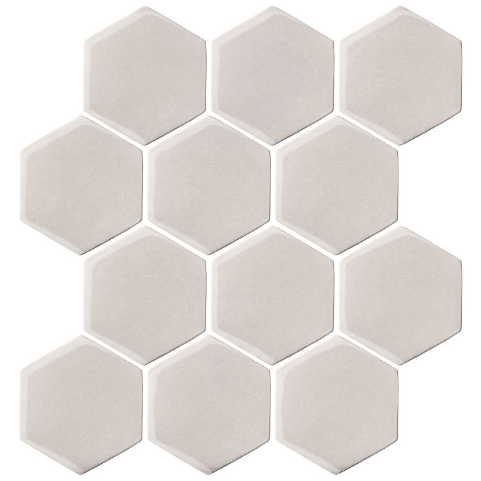 4x4 Oleson Hexagon Pure White