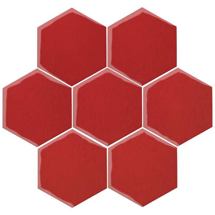 6x6 Oleson Hexagon Apple Valley Red