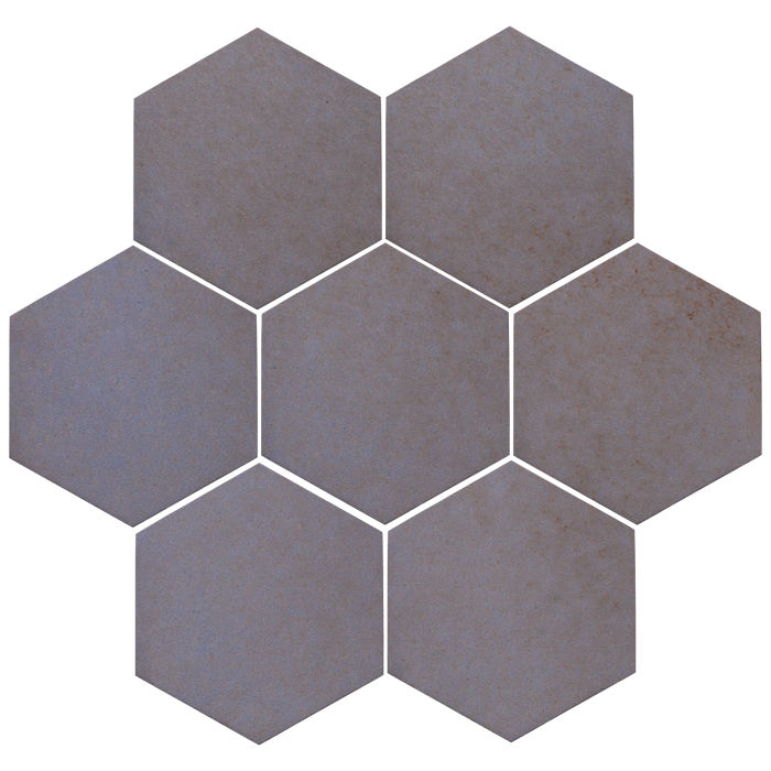 6x6 Oleson Hexagon Black and Blue