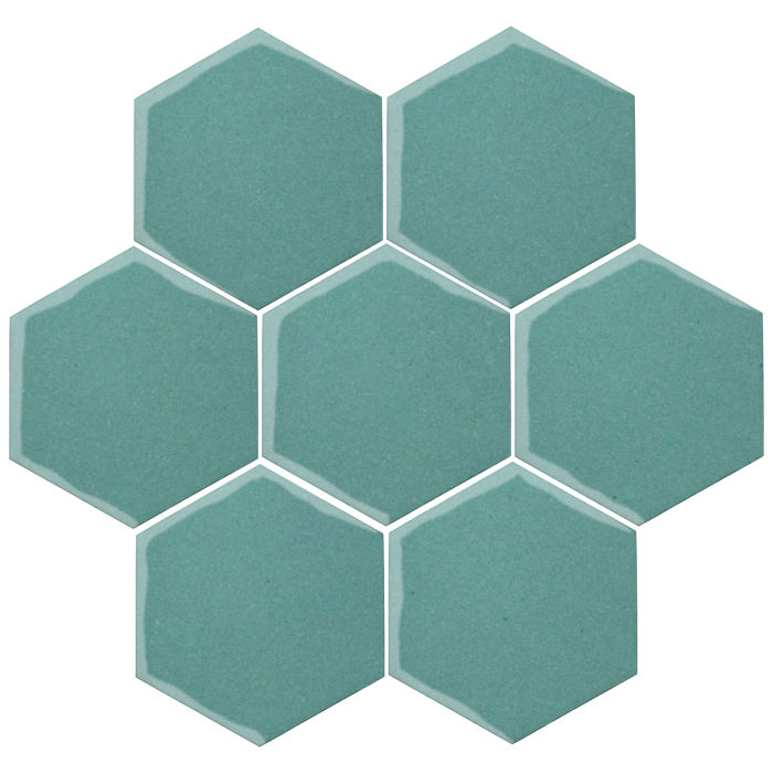 6x6 Oleson Hexagon Blue Haze 7458c