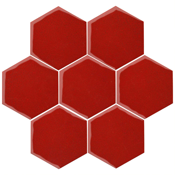 6x6 Oleson Hexagon Brick Red 7624c