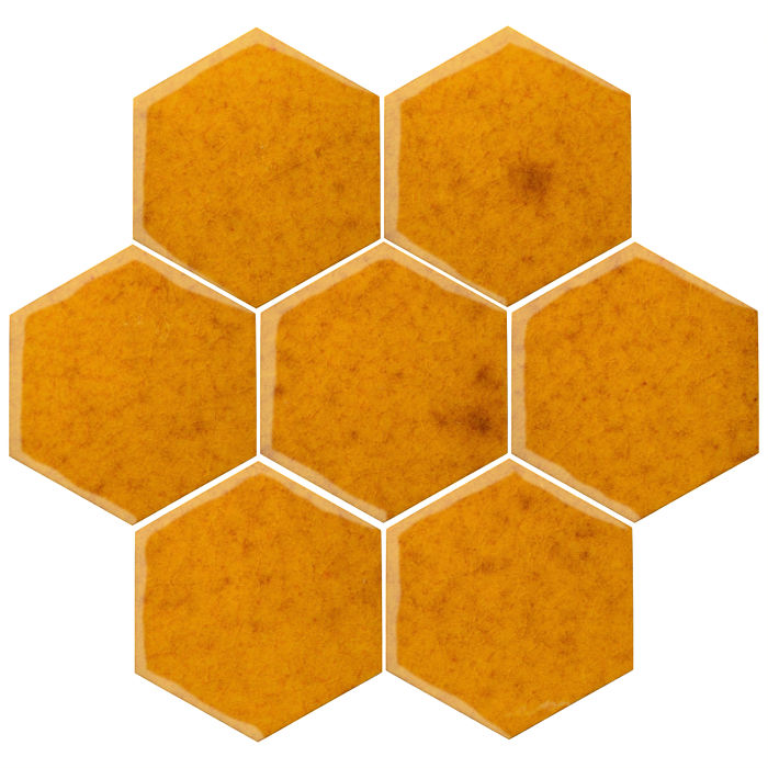 6x6 Oleson Hexagon Cadmium Yellow