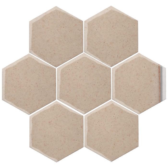 6x6 Oleson Hexagon Champagne 482c