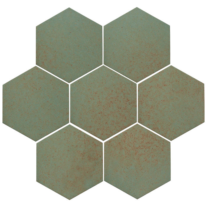 6x6 Oleson Hexagon Chrome