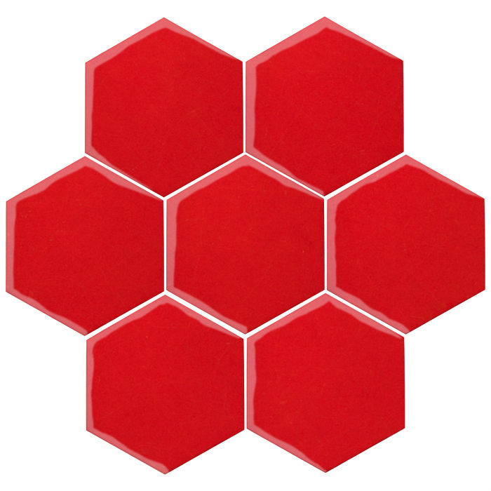 6x6 Oleson Hexagon Cherry Tomato 7621c