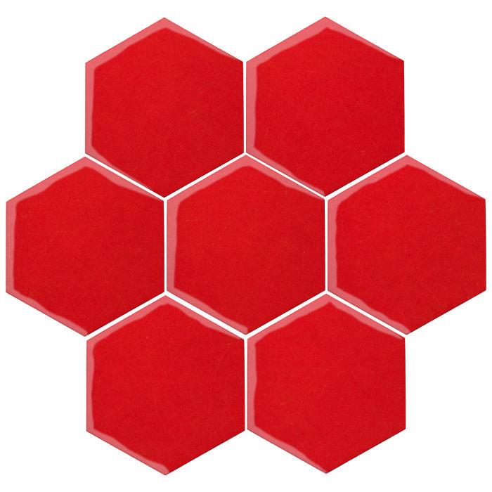 6x6 Oleson Hexagon Cherry Tomato 7621c