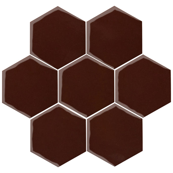 6x6 Oleson Hexagon Cordovan 476c