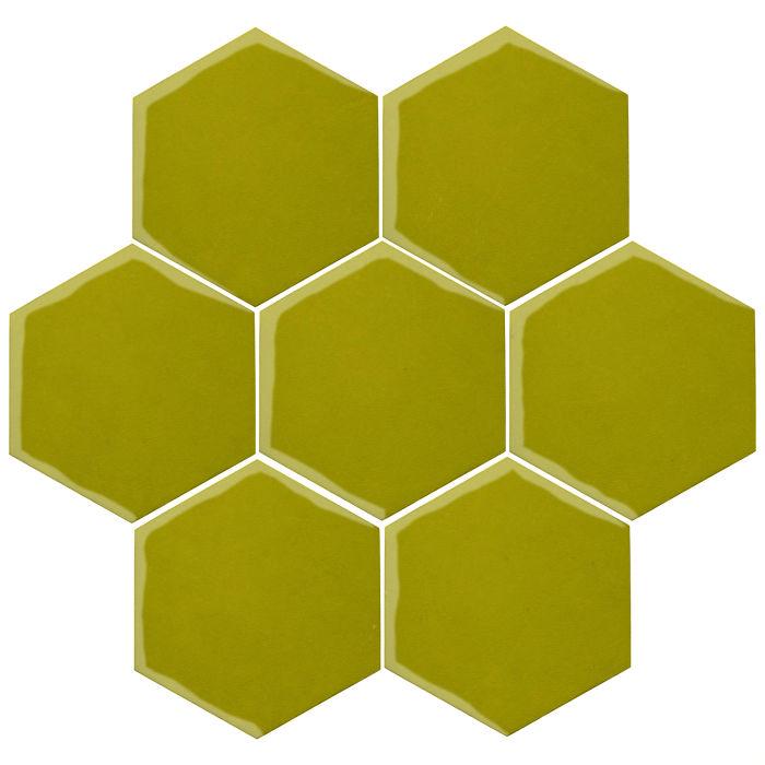 6x6 Oleson Hexagon Guacamole 7495c