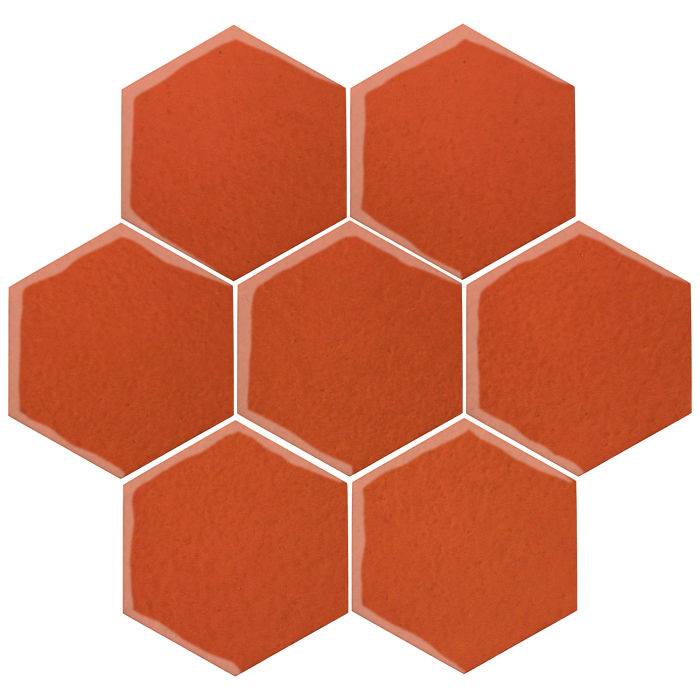 6x6 Oleson Hexagon Hazard Orange