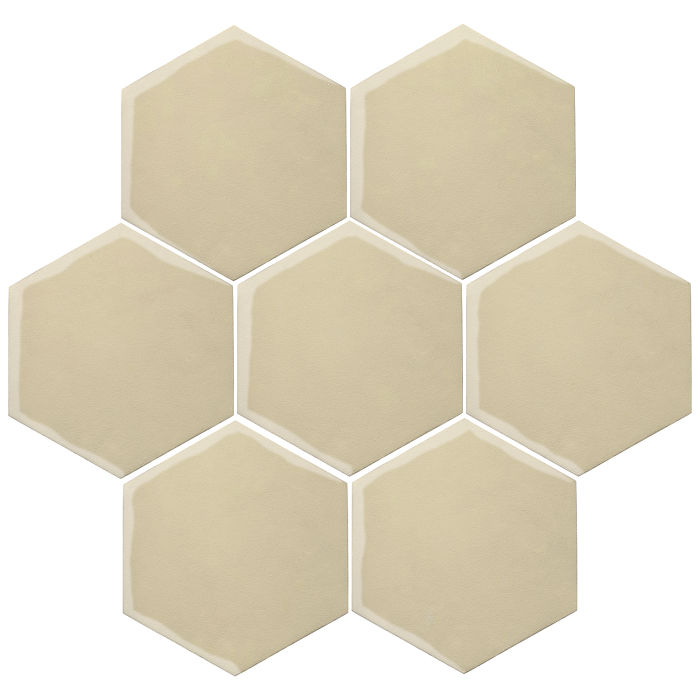 6x6 Oleson Hexagon Light Lemon 7499c