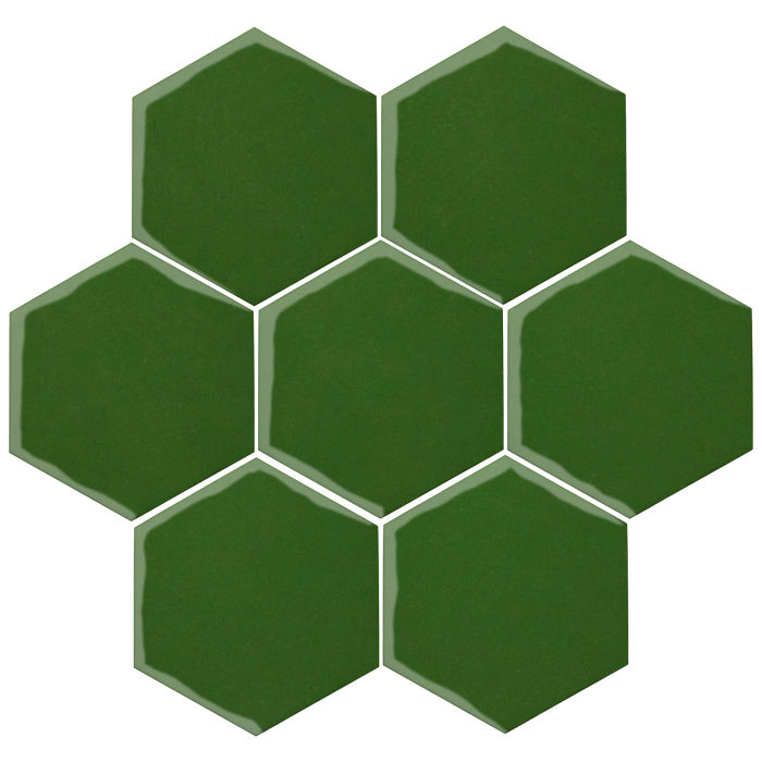 6x6 Oleson Hexagon Lucky Green 7734c