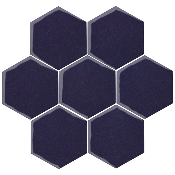 6x6 Oleson Hexagon Midnight Blue 2965c