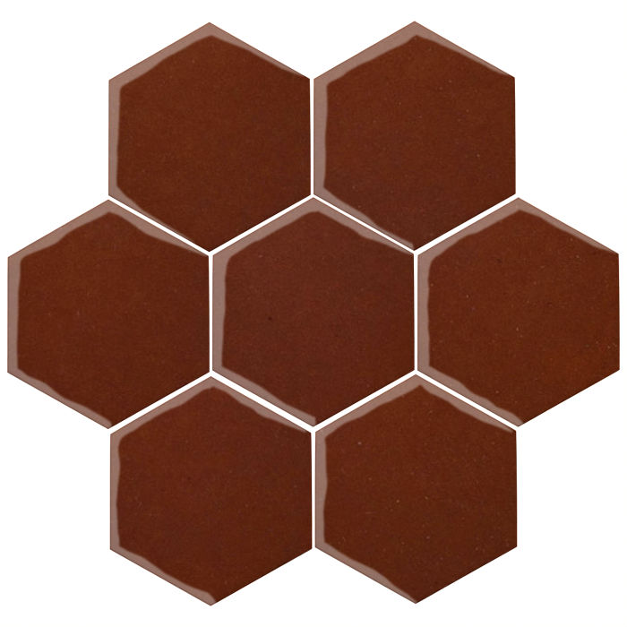 6x6 Oleson Hexagon Mocha 7581c
