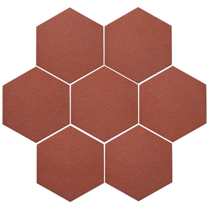6x6 Oleson Hexagon Monrovia Red