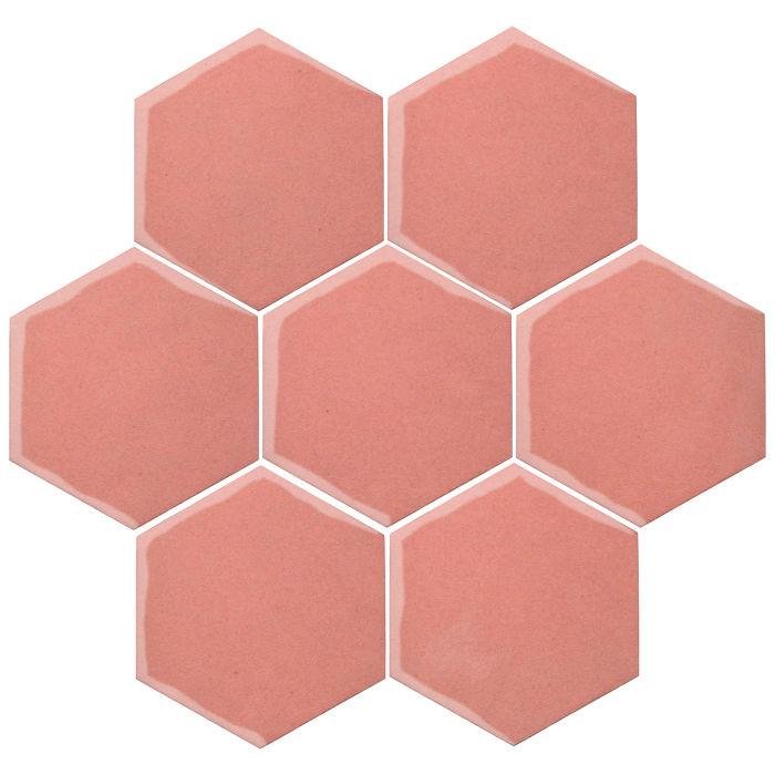 6x6 Oleson Hexagon Peach Pie