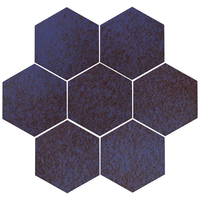 6x6 Oleson Hexagon Persian Blue