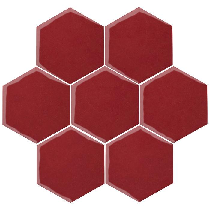 6x6 Oleson Hexagon Pinot Noir 7642c