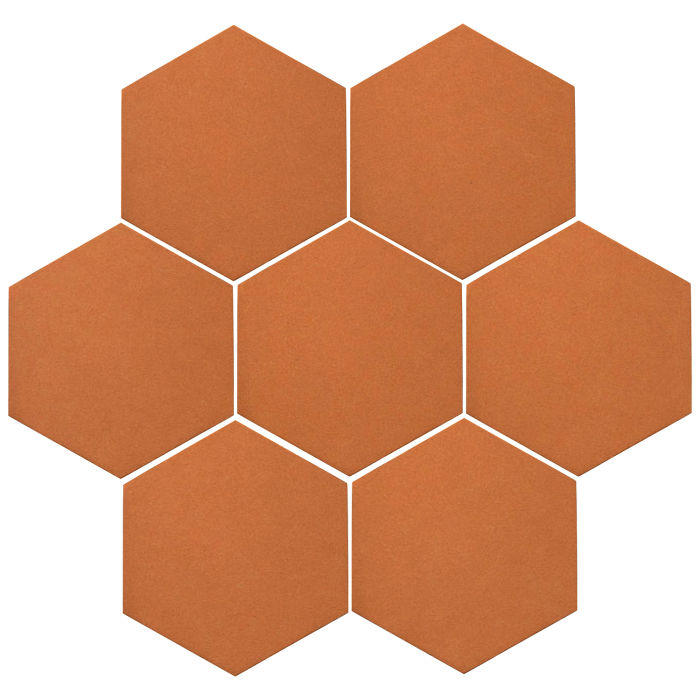 6x6 Oleson Hexagon Pottery Brown 470u