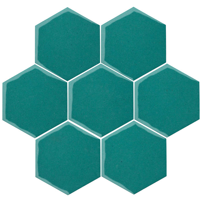 6x6 Oleson Hexagon Real Teal 5483c