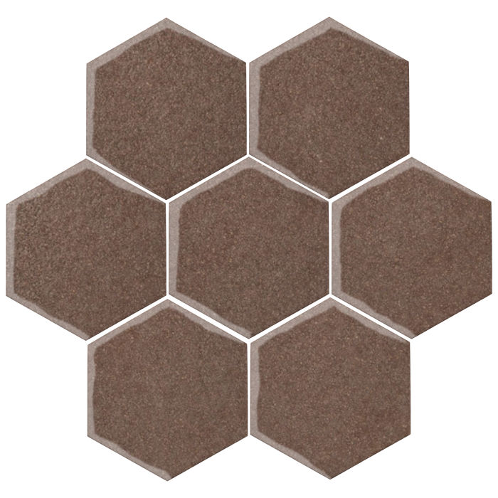 6x6 Oleson Hexagon Suede 405c