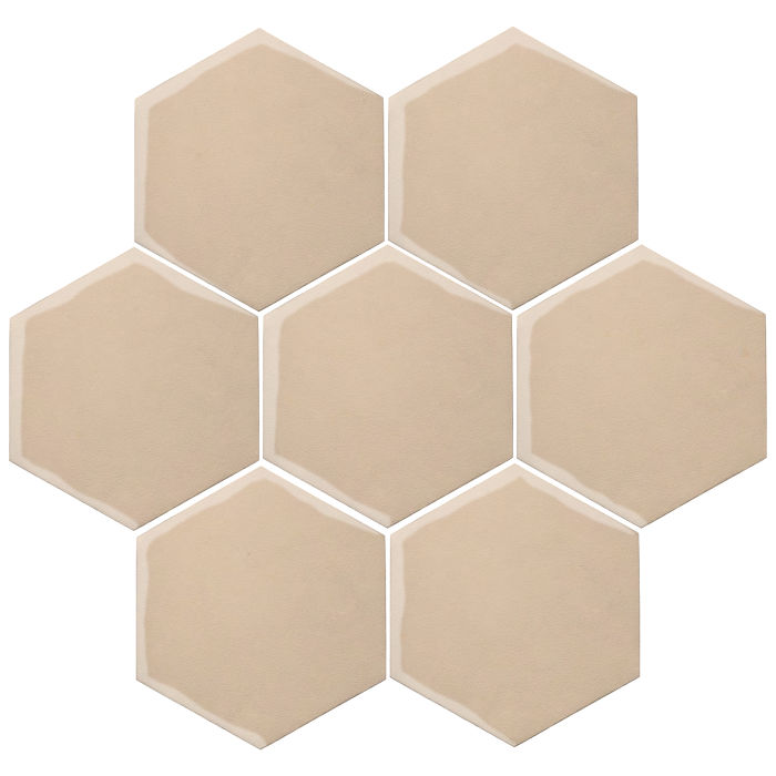 6x6 Oleson Hexagon White Bread 7506c