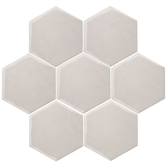 6x6 Oleson Hexagon Pure White
