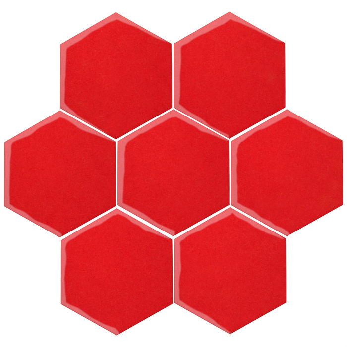 6x6 Oleson Hexagon Watermelon 7619c