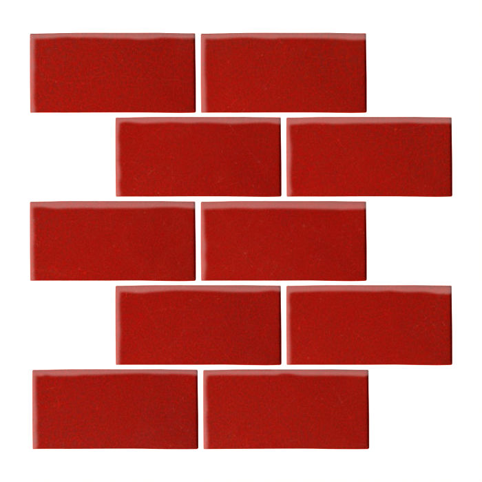 3x6 Oleson Brick Red 7624c