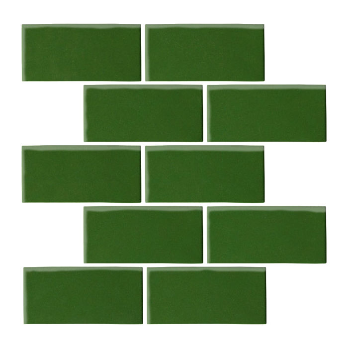 3x6 Oleson Lucky Green 7734c