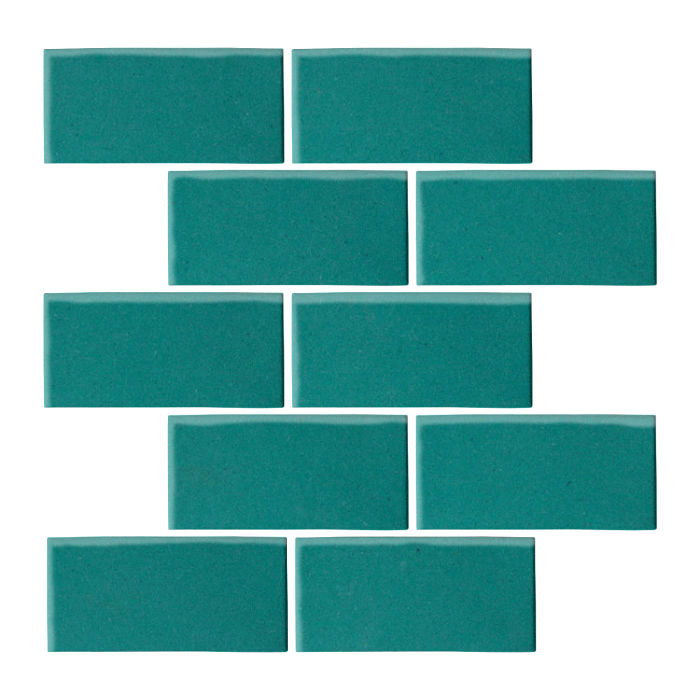 3x6 Oleson Real Teal 5483c