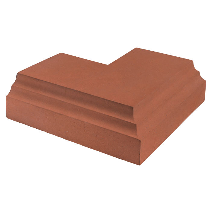12x12 Baluster Base Corner Mission Red