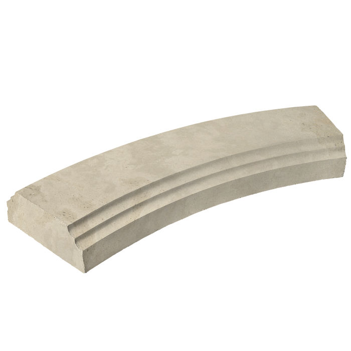 12' Radius Baluster Base Early Gray Limestone