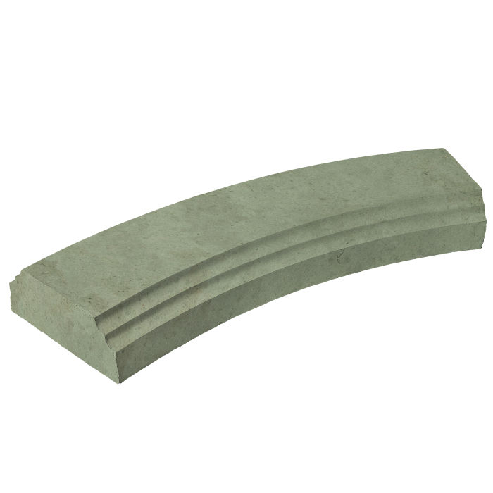 12' Radius Baluster Base Ocean Green Light Limestone