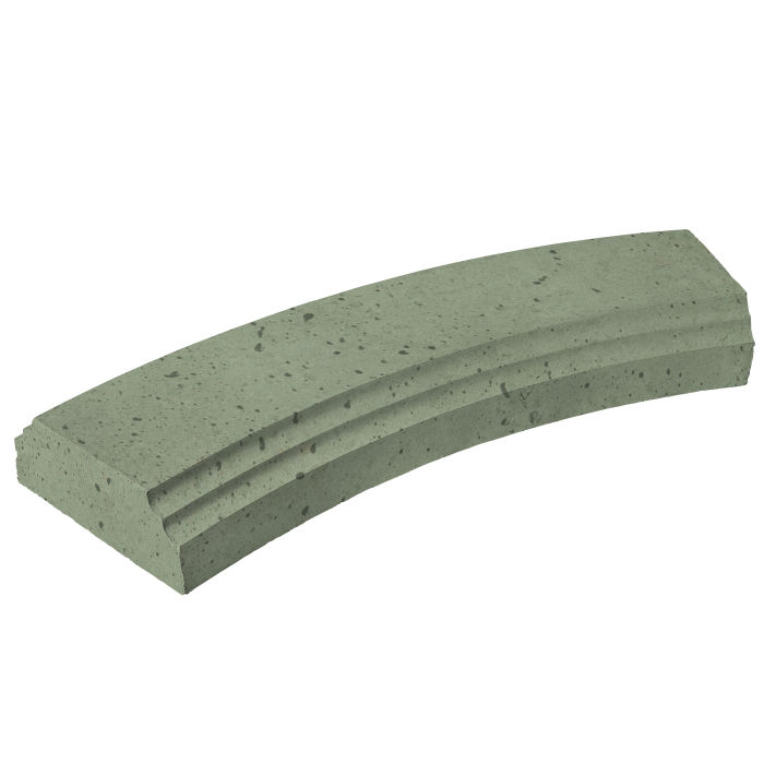 12' Radius Baluster Base Ocean Green Light Travertine