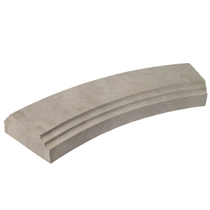 6' Radius Baluster Base Natural Gray Limestone