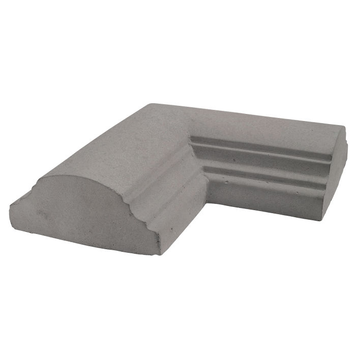 9x9 Handrail 1 Corner Sidewalk Gray