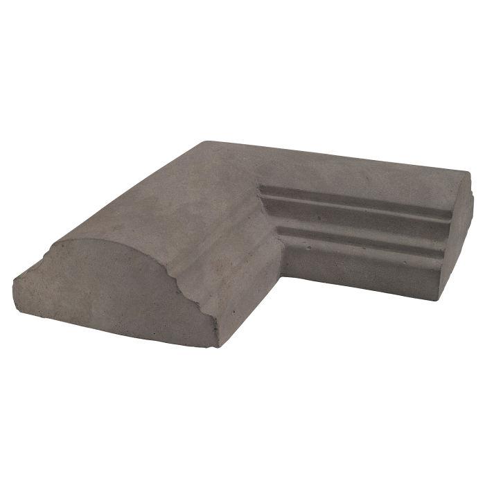 9x9 Handrail 1 Corner Smoke Limestone