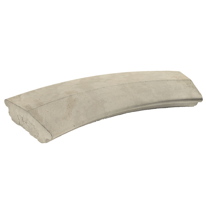 6' Radius Handrail 2 Radius Early Gray Limestone