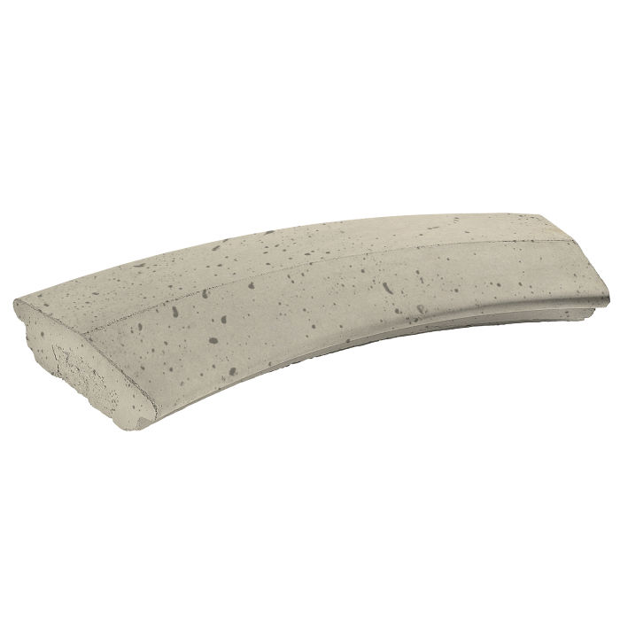 6' Radius Handrail 2 Radius Early Gray Travertine