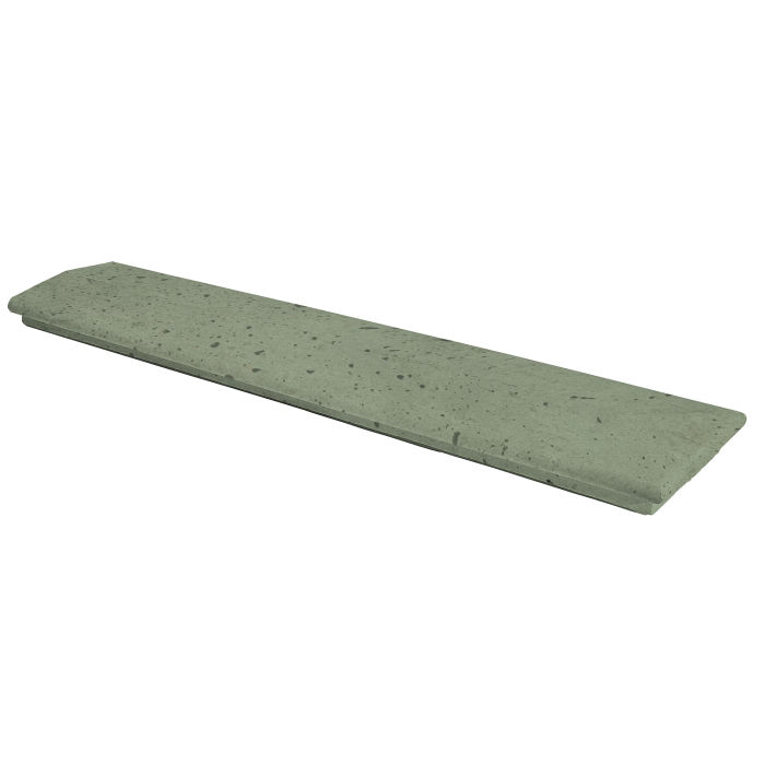 12x60 Handrail 2 Terminal Ocean Green Light Travertine