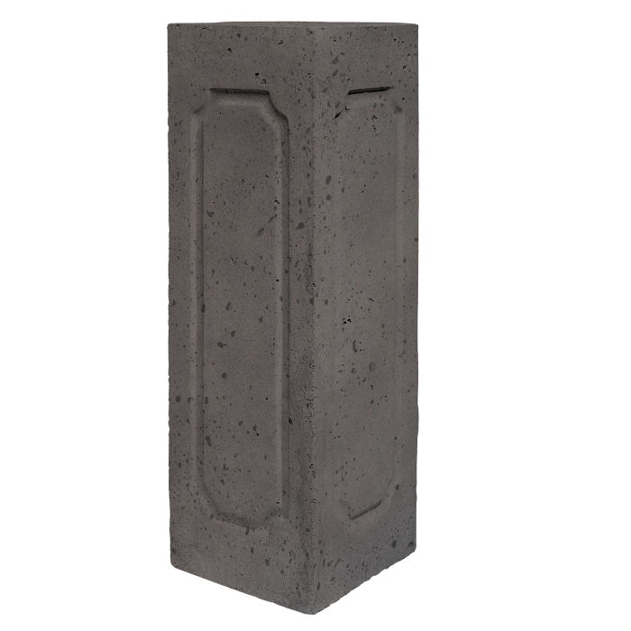 Starter Column 2 Side Corner Charcoal Travertine