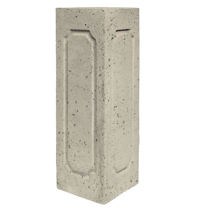 Starter Column 2 Side Corner Early Gray Travertine
