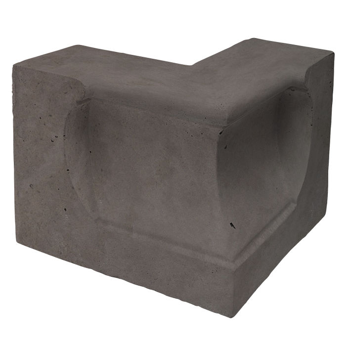Roman Curbing Andaluz Corner Charcoal Limestone